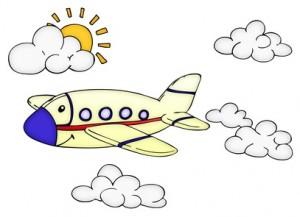 Flugzeug, Urlaub, fliegen, Himmel, Sonne, Reise